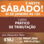 É NESTE SÁBADO, 05/01/19 – Curso Prático de Tributação