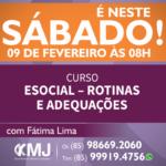 É NESTE SÁBADO, 09/02/19 – Curso eSocial – Rotinas e Adequações
