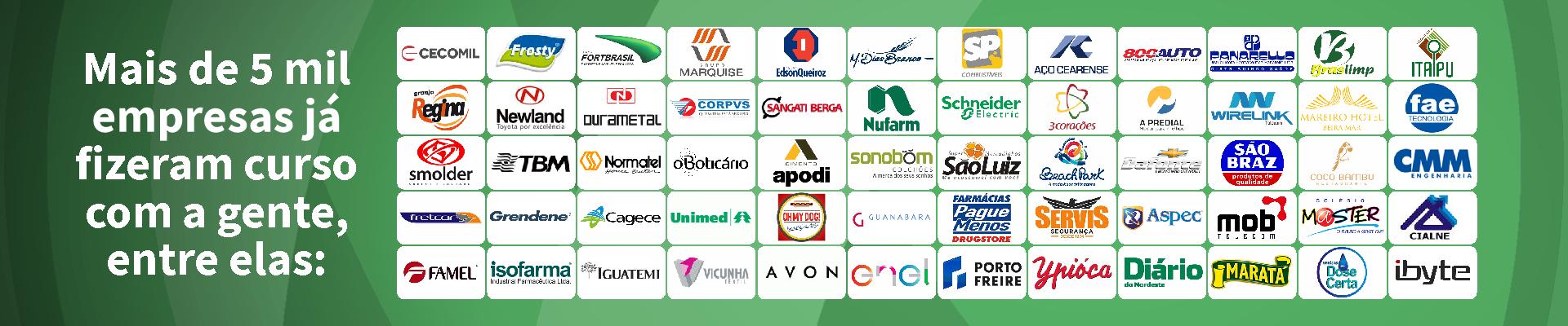 Mais de 5 mil empresas já fizeram curso com a gente